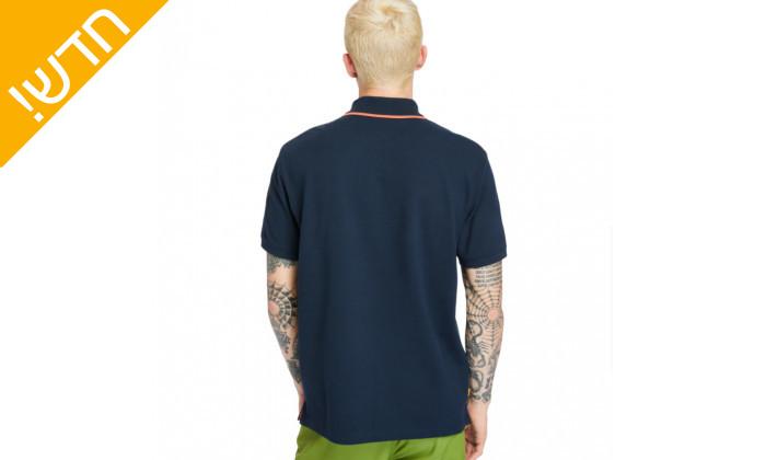 5 חולצת פולו כחולה לגברים 100% כותנה טימברלנד Timberland