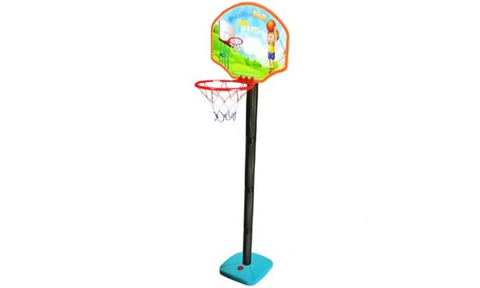 4 מתקן כדורסל לילדים כולל כדור ומשאבה ידנית