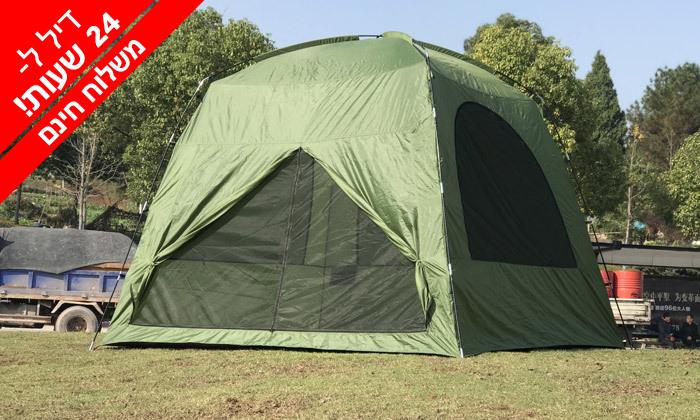 2 אוהל עמידה ל-8 אנשים ושק שינה זוגי - משלוח חינם