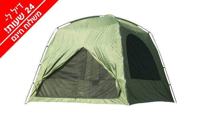 6 אוהל עמידה ל-8 אנשים ושק שינה זוגי - משלוח חינם