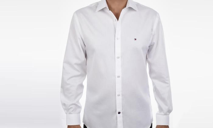2 חולצה מכופתרת לגברים 100% כותנה TOMMY HILFIGER