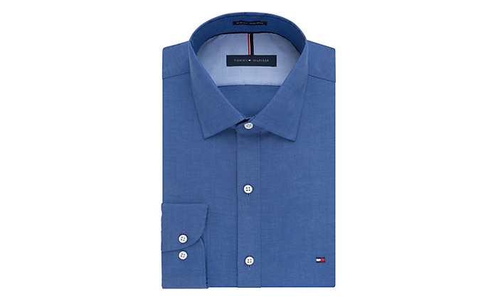 5 חולצה מכופתרת לגברים 100% כותנה TOMMY HILFIGER