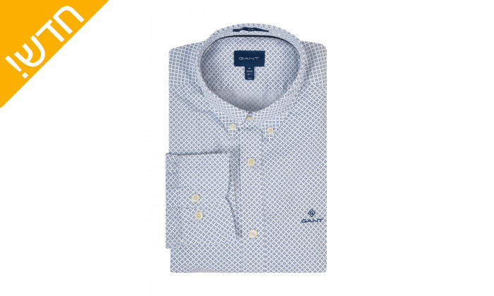 2 חולצה מכופתרת לגבר GANT דגם MICRO DOT BD