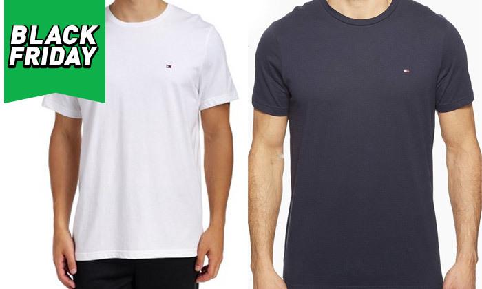 2 חולצה לגבר 100% כותנה TOMMY HILFIGER - מגוון צבעים