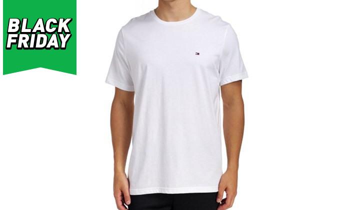 4 חולצה לגבר 100% כותנה TOMMY HILFIGER - מגוון צבעים