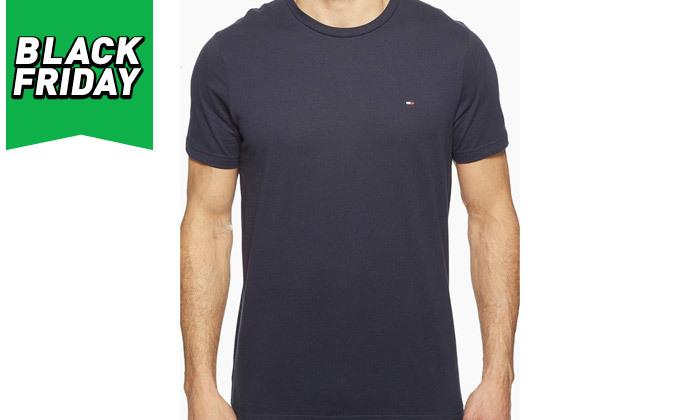6 חולצה לגבר 100% כותנה TOMMY HILFIGER - מגוון צבעים