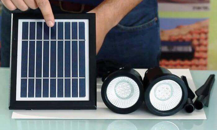 3 זוג ספוטים סולאריים חזקים לגינה