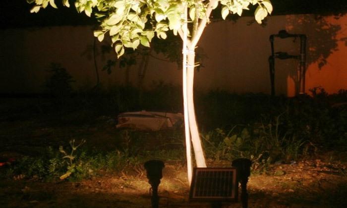 6 זוג ספוטים סולאריים חזקים לגינה