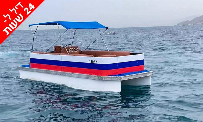 3 דיל ל-24 שעות: שייט בסירת מנוע פונטון באילת, טורנדו ספורט ימי