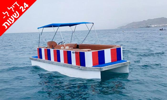 4 דיל ל-24 שעות: שייט בסירת מנוע פונטון באילת, טורנדו ספורט ימי