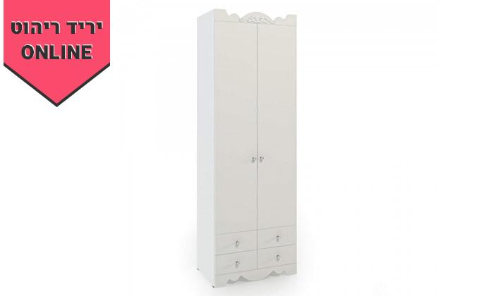 2 ארון דגם רקפת עם 2 דלתות ו-4 מגירות - גדלים וצבעים לבחירה