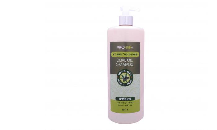 2 בקבוק שמפו עם שמן זית 1 ליטר PRO HAIR