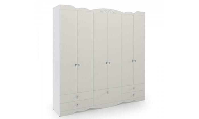 6 ארון דגם רקפת עם 6 דלתות - צבעים לבחירה