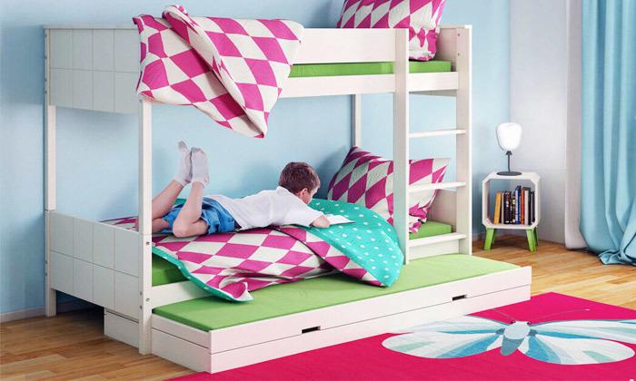 5 שמרת הזורע: מיטת קומותיים מעץ מלא