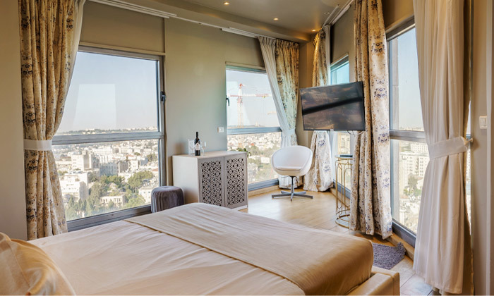 "7 My Jerusalem View - לילה לזוג במלון בוטיק בלב ירושלים, כולל סופ""ש"