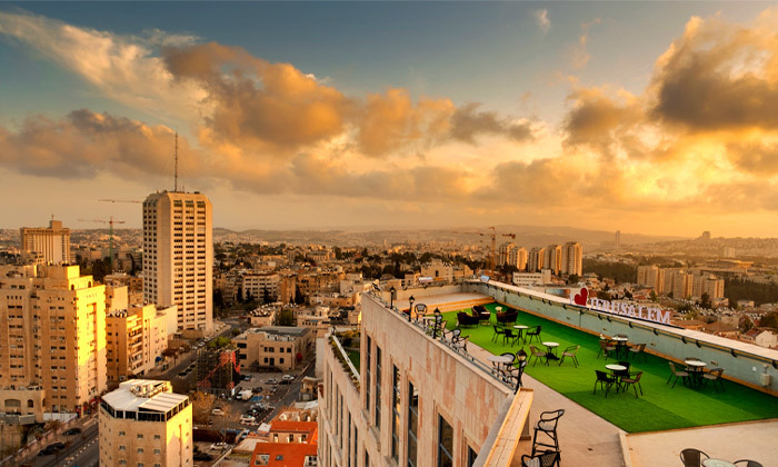 "12 My Jerusalem View - לילה לזוג במלון בוטיק בלב ירושלים, כולל סופ""ש"