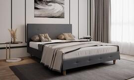 מיטה זוגית מרופדת דגם JENNY
