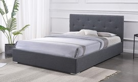 מיטה זוגית מרופדת דגם DARIA