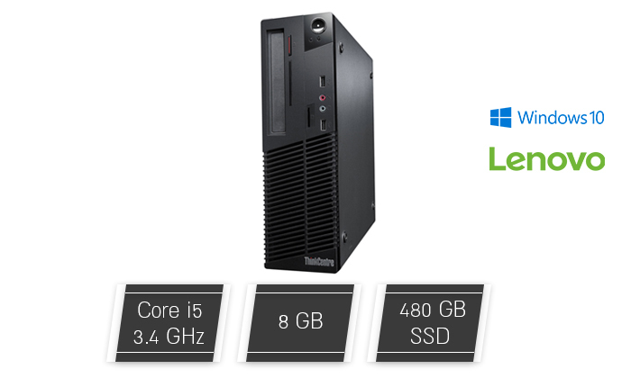 2 מחשב נייח מחודש Lenovo דגם IBM ThinkCentre M73 עם זיכרון 8GB ומעבד i5
