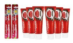 6 משחות שיניים ו-2 מברשות