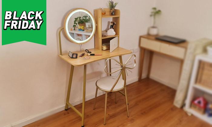 2 שידת טואלט עם שולחן וכיסא לילדות דגם Bell - מידות לבחירה