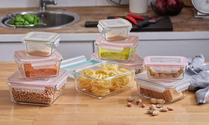 3 9 קופסאות אחסון מזכוכית Food Appeal