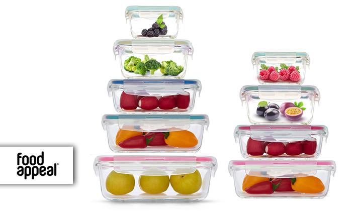 2 9 קופסאות אחסון מזכוכית Food Appeal