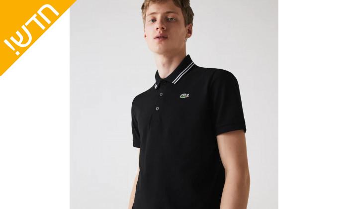 3 חולצת פולו לגבר Lacoste לקוסט 100% כותנה
