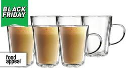 6 כוסות עם דופן כפולה