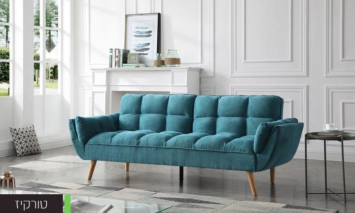 3 ספה תלת מושבית נפתחת למיטה - צבעים לבחירה