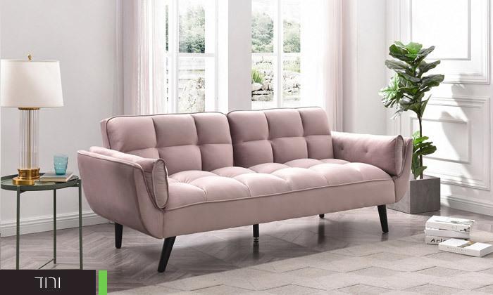 10 ספה תלת מושבית נפתחת למיטה - צבעים לבחירה