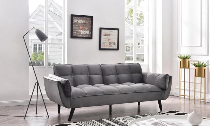13 ספה תלת מושבית נפתחת למיטה - צבעים לבחירה