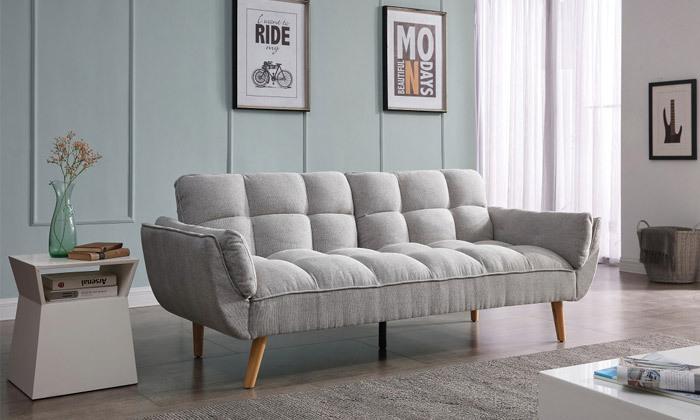 15 ספה תלת מושבית נפתחת למיטה - צבעים לבחירה