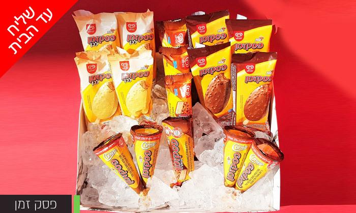 5 בן אנד ג'ריס או אוראו: מארזי גלידות לבחירה - משלוח עד הבית למגוון ערים בין נתניה לאשדוד