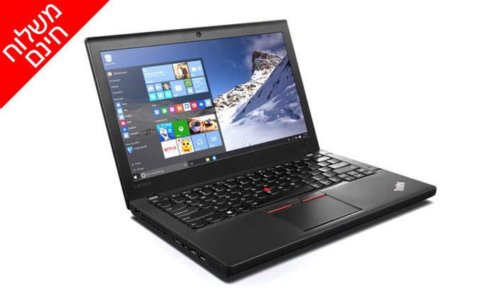 """4 מחשב נייד מעודפים לנובו Lenovo, דגם X260 עם מסך """"12.5, זיכרון 8GB ומעבד i5 - משלוח חינם"""