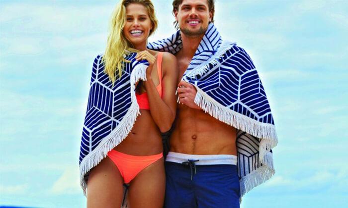 5 מגבת חוף לים לבריכה או סתם לפיקניק