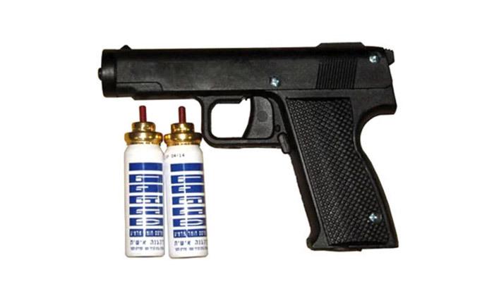 3 אקדח גז מדמיעעם 2 מחסניות ואופציה לנרתיק