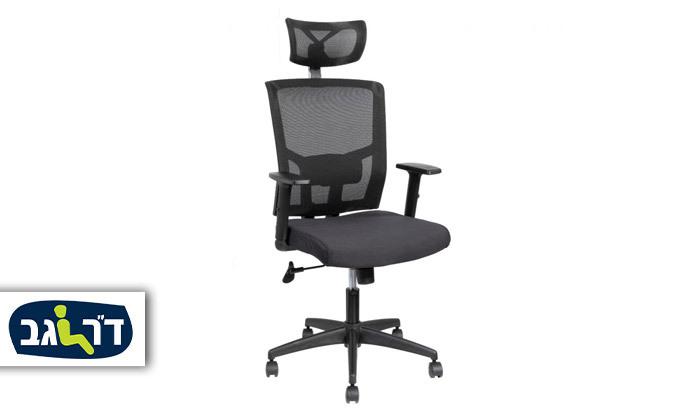 """2 ד""""ר גב: כיסא משרדי, דגם TREND"""