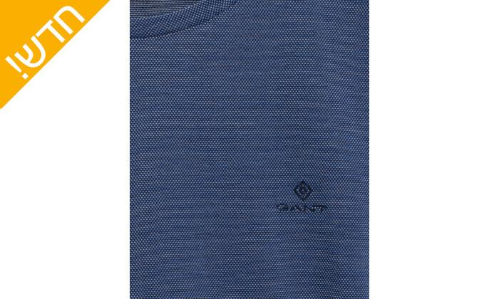 3 חולצת טי שירט גאנט לגברים GANT דגםCOL OXFORD SLIM