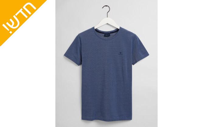 2 חולצת טי שירט גאנט לגברים GANT דגםCOL OXFORD SLIM