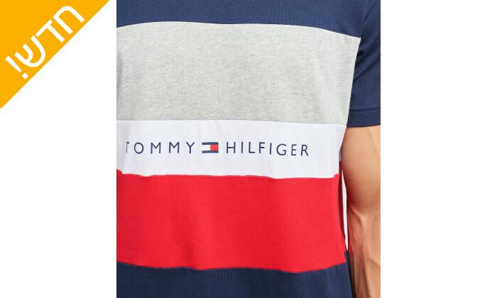 4 טישירט כותנה לגבר טומי הילפיגר tommy hilfiger