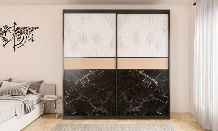 4 ארון הזזה 2 דלתות House design דגם רומי