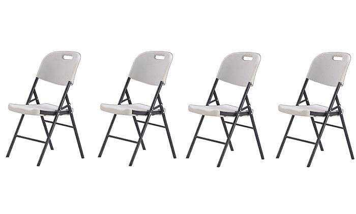 2 סט 4 כיסאות מתקפלים