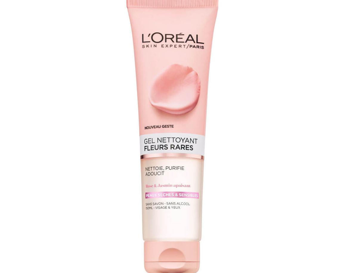 """2 ג'ל ניקוי פנים לעור רגיש 150 מ""""ל L'OREAL מסדרת Rare Flowers"""