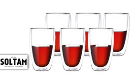 6 כוסות דופן כפולה סולתם