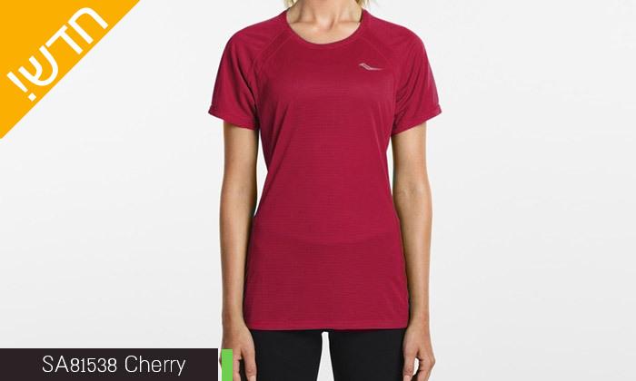 3 חולצת טי שירט לנשים סאקוני SAUCONY - מידות ודגמים לבחירה