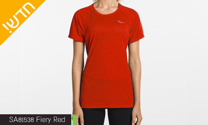 5 חולצת טי שירט לנשים סאקוני SAUCONY - מידות ודגמים לבחירה