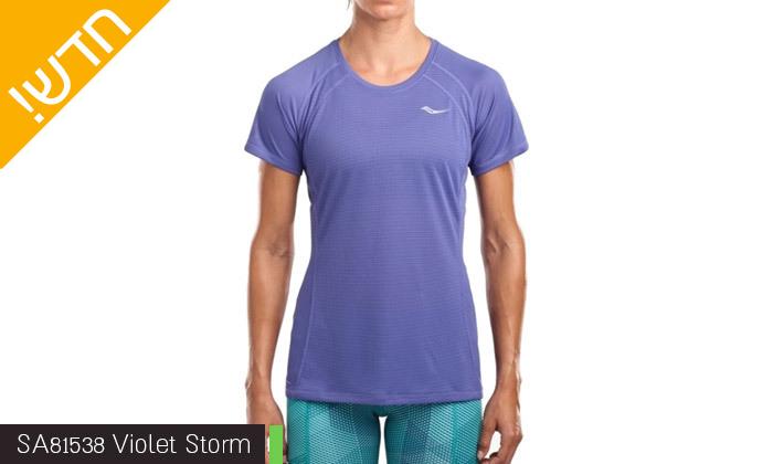 8 חולצת טי שירט לנשים סאקוני SAUCONY - מידות ודגמים לבחירה