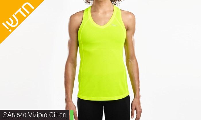 13 חולצת טי שירט לנשים סאקוני SAUCONY - מידות ודגמים לבחירה