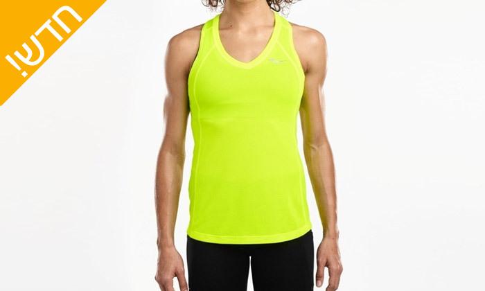 14 חולצת טי שירט לנשים סאקוני SAUCONY - מידות ודגמים לבחירה
